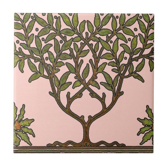 William Morris Vintage Tree Floral Design Tile