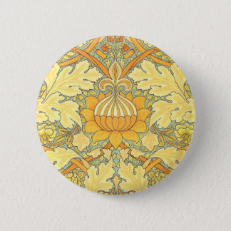 William Morris Wallpaper for St. James Place 6 Cm Round Badge
