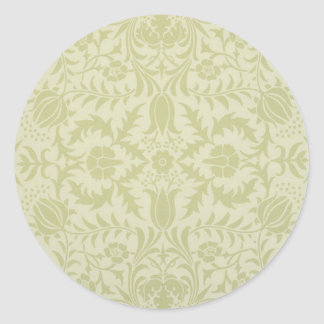 William Morris Wedding Lace Classic Round Sticker