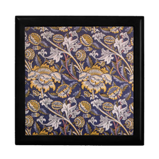 William Morris Wey Floral Wallpaper Design Large Square Gift Box