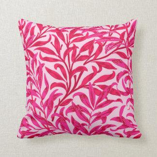 William Morris Willow Bough, Fuchsia Pink Throw Pillow