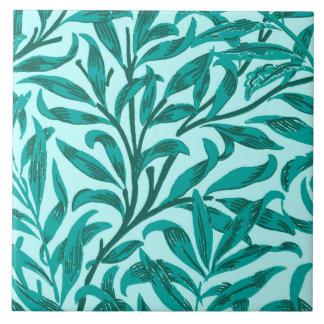 William Morris Willow Bough, Turquoise and Aqua Tile