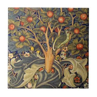 William Morris Woodpecker Pre-Raphaelite Tile