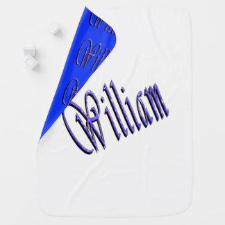 William, Name, Logo, Reversible Baby Blanket. Baby Blanket