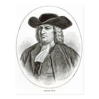 William Penn  engraved by Josiah Wood Whymper Postcard