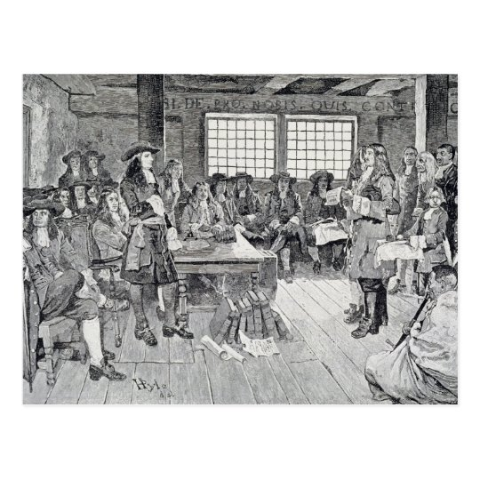 William Penn in Conference with the Colonists Postcard
