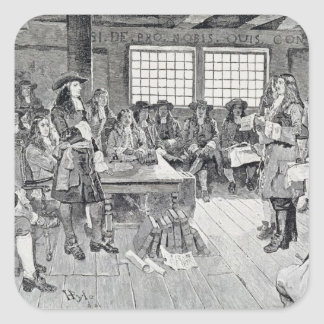 William Penn in Conference with the Colonists Square Sticker