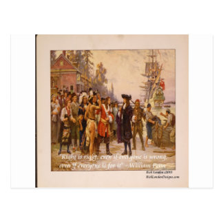 William Penn & Right Is Right Quote Postcard