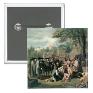 William Penn's Treaty with the Indians in 15 Cm Square Badge