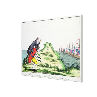 William Pitt Observing the French Squadron Canvas Print