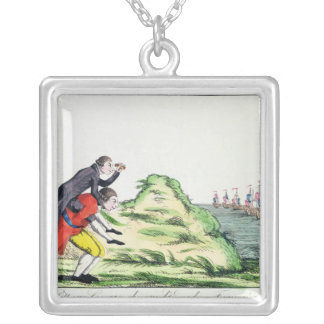 William Pitt Observing the French Squadron Silver Plated Necklace