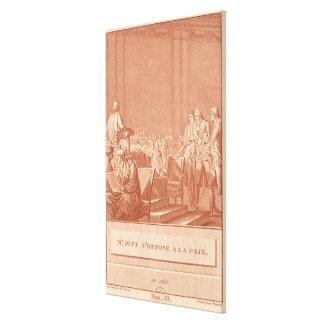 William Pitt the Elder  Opposing the Peace Canvas Print