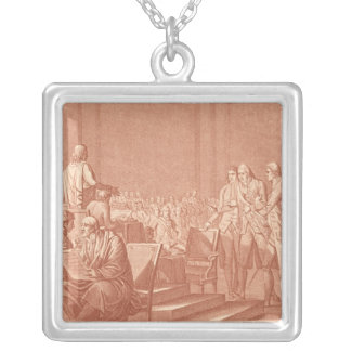 William Pitt the Elder  Opposing the Peace Silver Plated Necklace