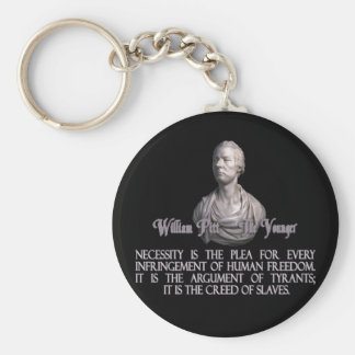 William Pitt the Younger on Necessity Basic Round Button Key Ring