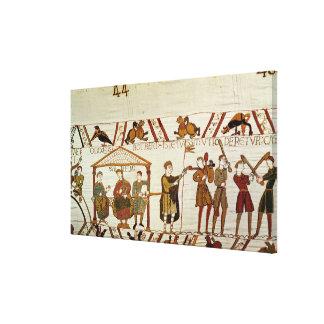 William, Robert de Mortain and Bishop Odo Canvas Print
