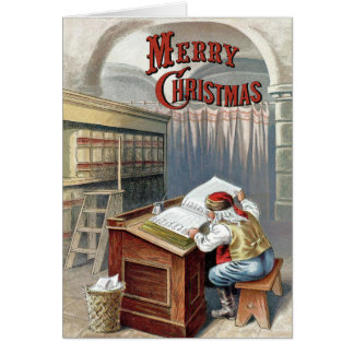 William Roger Snow  - Santa Checks His List Greeting Card