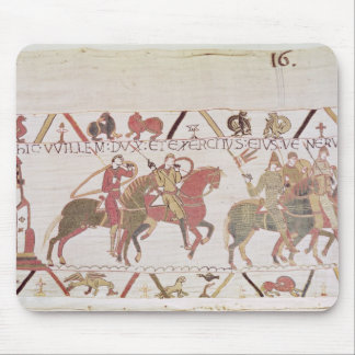 William s army going to Mont Saint-Michel Mouse Pads
