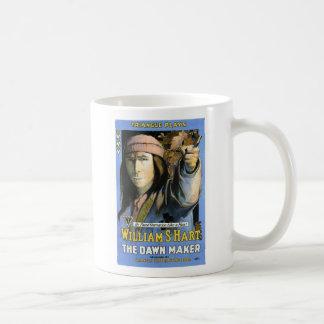 William S Hart 1916 The Dawn Maker movie ad Basic White Mug