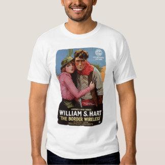 William S Hart Border Wireless 1918 silent movie Tshirts