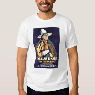 William S. Hart Testing Blcok 1920 silent movie Tee Shirts