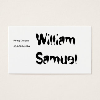 William Samuel, Flying Dragon Business Card