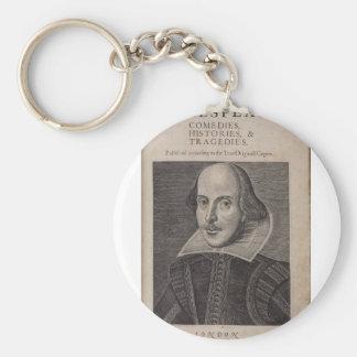 William Shakespeare, 1623 Keychain