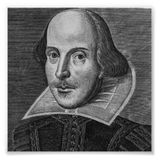 William Shakespeare 1623 Poster