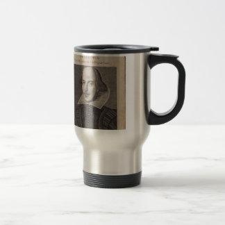 William Shakespeare, 1623 Stainless Steel Travel Mug