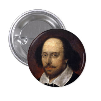 William Shakespeare 3 Cm Round Badge