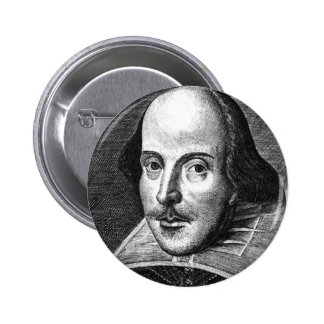 William Shakespeare 6 Cm Round Badge