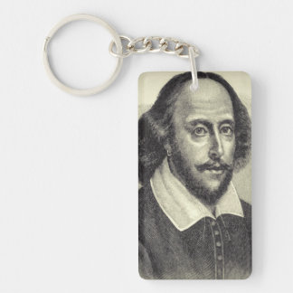 William Shakespeare Acrylic Keychain