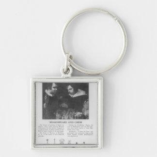 William Shakespeare  and Ben Jonson Key Ring