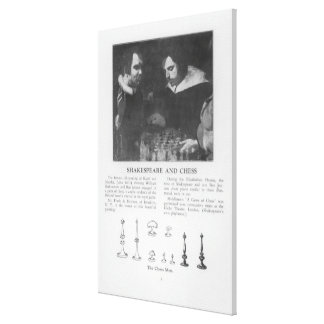 William Shakespeare  and Ben Jonson Stretched Canvas Print