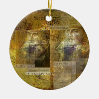 WILLIAM SHAKESPEARE art Christmas Ornament