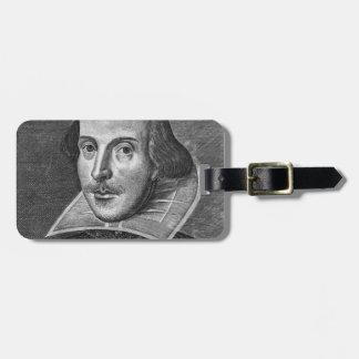 William Shakespeare Bag Tag