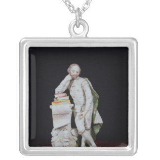 William Shakespeare, based on the monument Silver Plated Necklace
