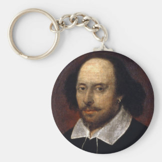 William Shakespeare Basic Round Button Key Ring