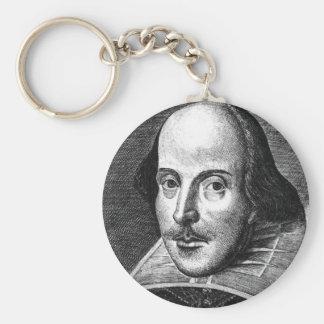 William Shakespeare Basic Round Button Key Ring