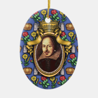William Shakespeare Christmas Ornament