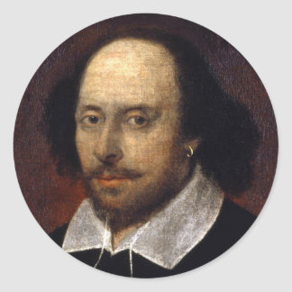 William Shakespeare Classic Round Sticker