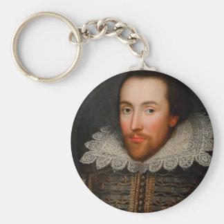 William Shakespeare Cobbe Portrait Basic Round Button Key Ring