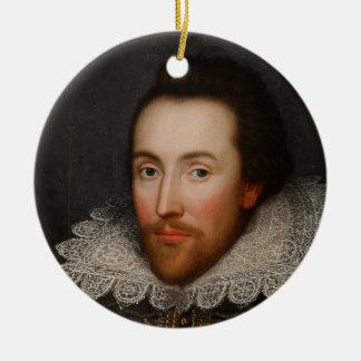William Shakespeare Cobbe Portrait  circa 1610 Christmas Ornament