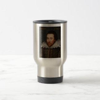 William Shakespeare Cobbe Portrait  circa 1610 Stainless Steel Travel Mug