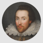 William Shakespeare Cobbe Portrait  circa 1610 Stickers