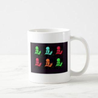 William Shakespeare Collage Basic White Mug