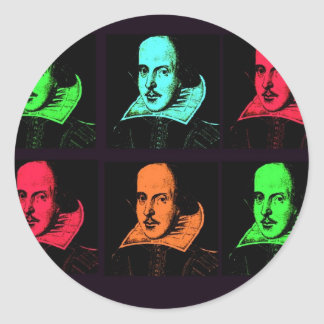 William Shakespeare Collage Classic Round Sticker