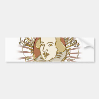 William Shakespeare Crest (Gold) Bumper Sticker