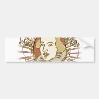 William Shakespeare Crest (Gold) Bumper Stickers