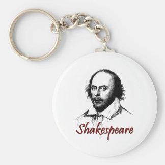 William Shakespeare Etching Key Chain