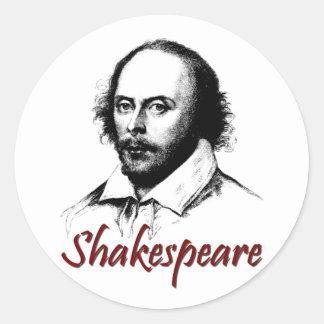 William Shakespeare Etching Round Sticker
